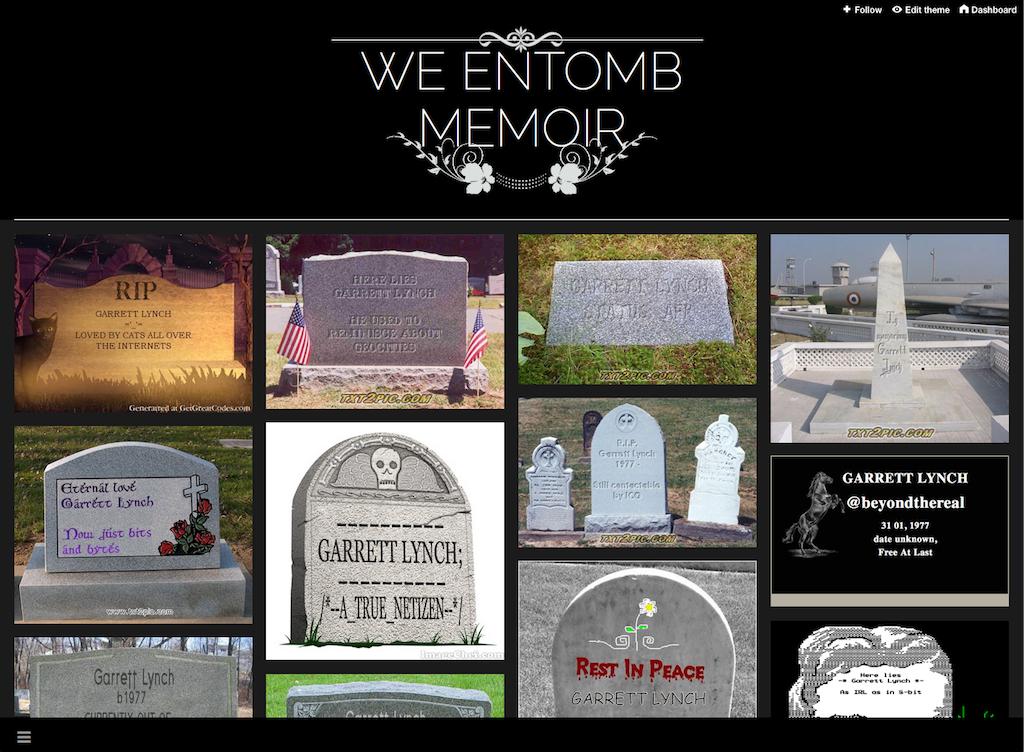 We Entomb Memoir